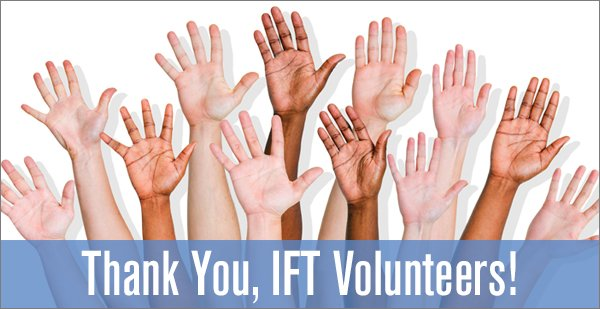 Thank You, IFT Volunteers
