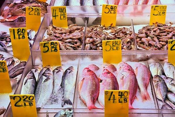 Seafood in Grocery Store-454064143-1